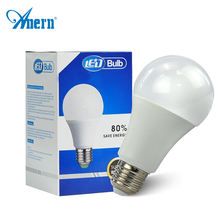 Anern aluminum CE RoHS milk cover 5W 7W 9W 12v dc led light bulb