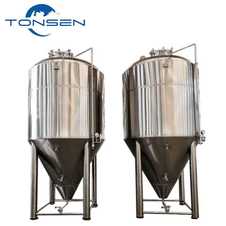 Stainless steel fermentation equipment 100 liters to 20000 liters conical jacketed beer fermenter for sale