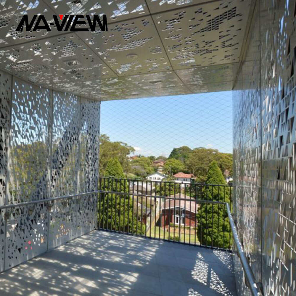 Custom Made Building Facade Material Metal Aluminum Perforated Metal Screen