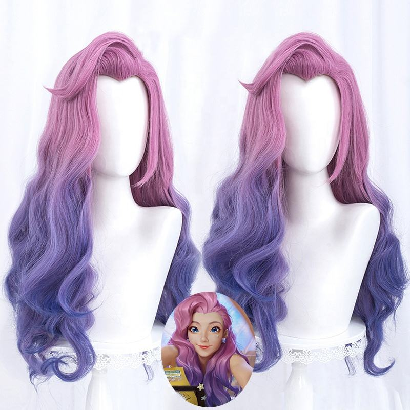 <span class=keywords><strong>Wig</strong></span> Cosplay Panjang 75Cm, <span class=keywords><strong>Wig</strong></span> Seraphine Gelombang Campur, <span class=keywords><strong>Wig</strong></span> Anime LOL Spirit Mekar, <span class=keywords><strong>Wig</strong></span> CS-119P Sintetis