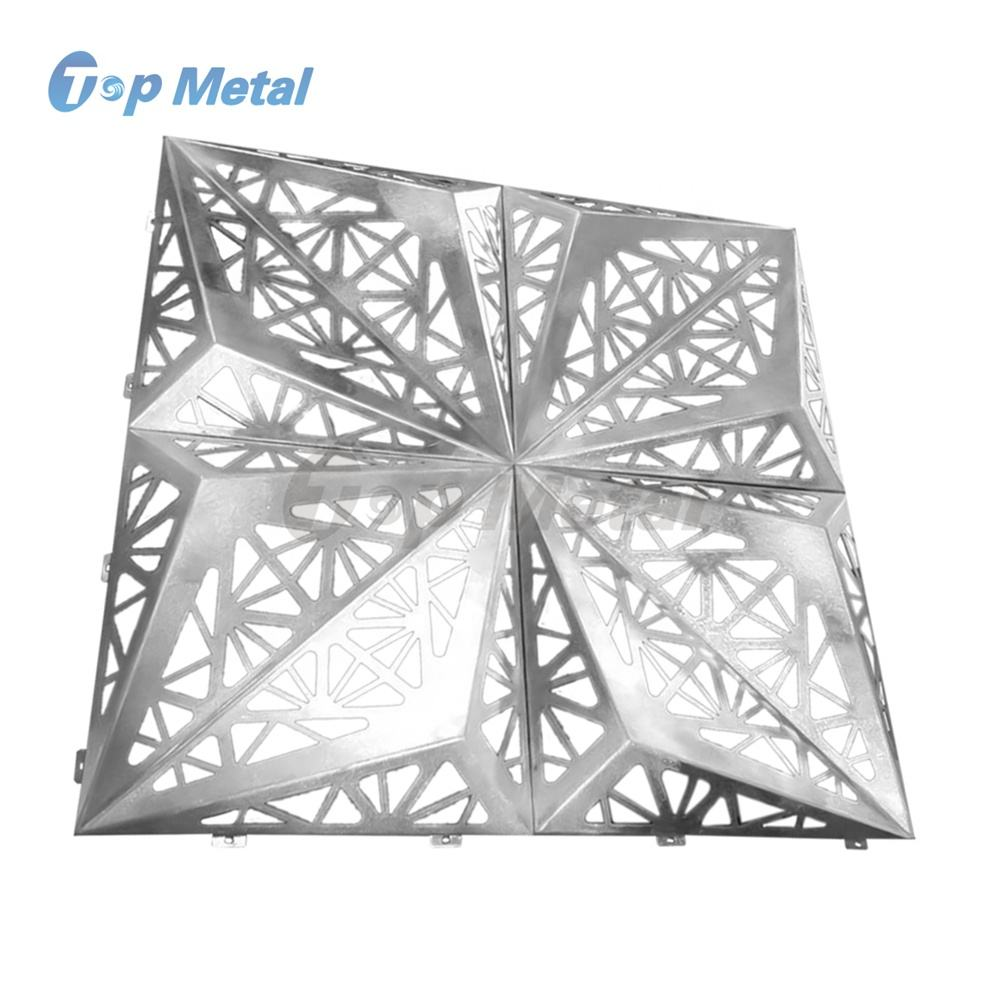 PVDF Coated Aluminum Laser Cutting Carved 3d Wall Facade