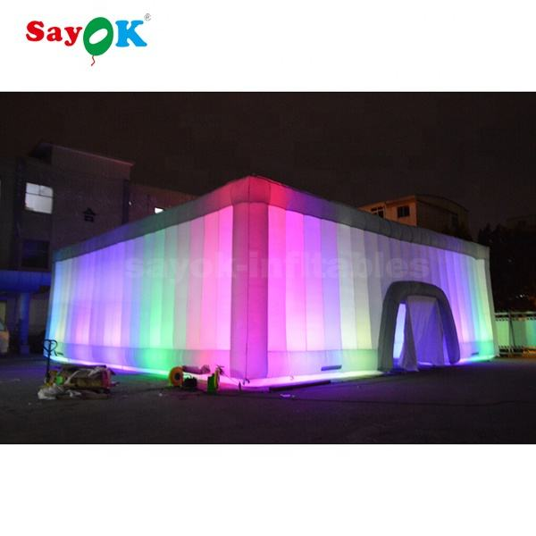 Sayok Factory Latest Led Giant Inflatable Cube Tent For event
