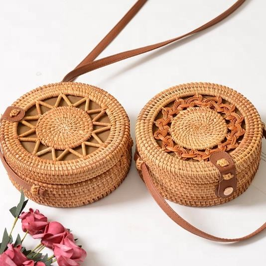 summer beach bag straw bag handmade women handbag crossbody single shoulder rattan new fashion lady bohemian