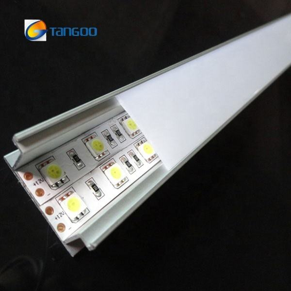 Double Row LED Profil Aluminium untuk Flexible LED Strip Perumahan Lebar LED PROFILE
