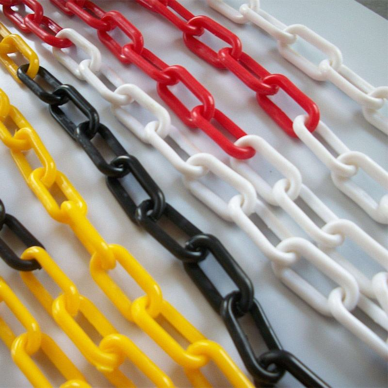 8mm yellow blue red green white orange plastic chain for traffic barrier