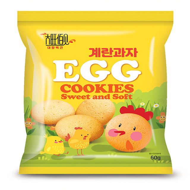 Korea Delicious Sweet And Soft Butter Flavor Egg Biscuits Non Frying Cookies 60g