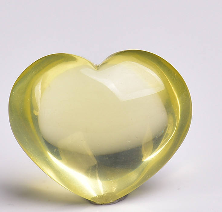 Natural Polished Hand Engraving Quartz Healing Clear Citrine Crystal Carving Heart