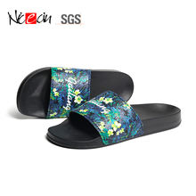 OEM Custom flower printing sliders beach rubber unisex men sandals
