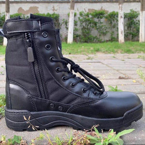 Sales Promotion Cheap Black waterproof anti-skip hard-wearing military army tactical boots in stock