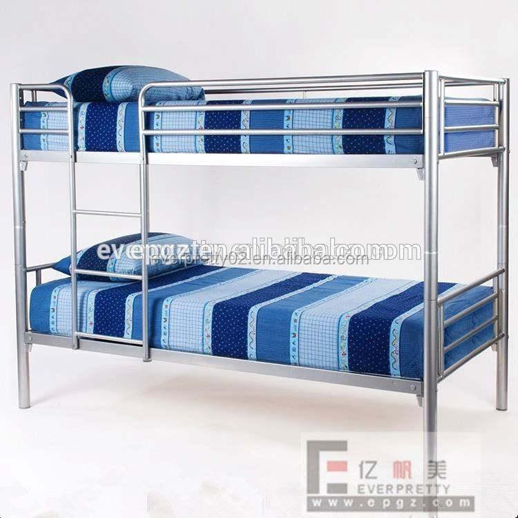 Moda Barato Beliche Loft Cama Frames/exército de Beliche do Metal Cama com <span class=keywords><strong>Colchão</strong></span>