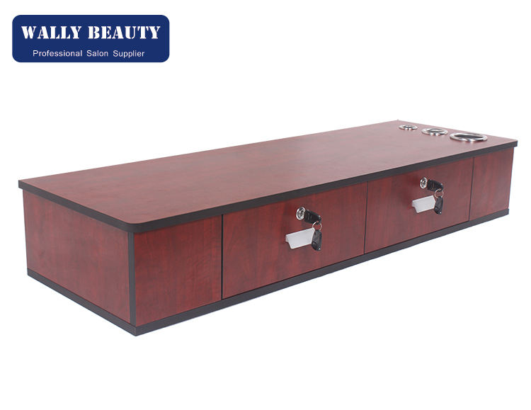 Wall Mount 2 Drawer Hair Salon Stylist Barber Furniture Locking Cabinet