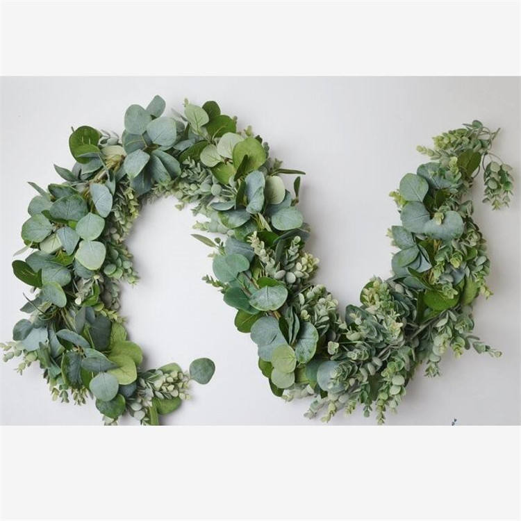 New Fashion Wedding Decoration Artificial Apple Leaves Eucalyptus Garland