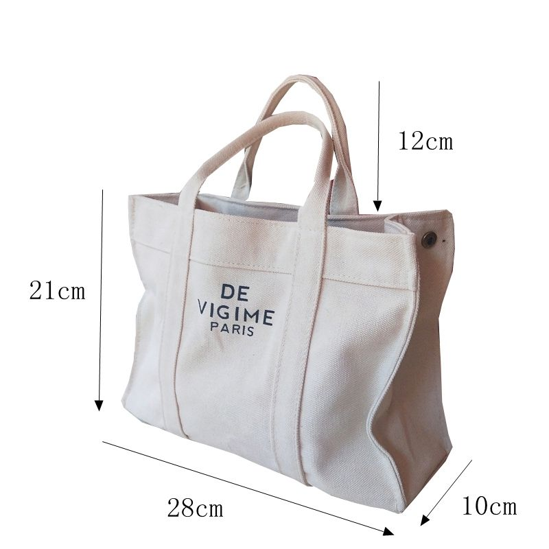 Customized natural cotton big capacity cotton canvas shopping tote bag