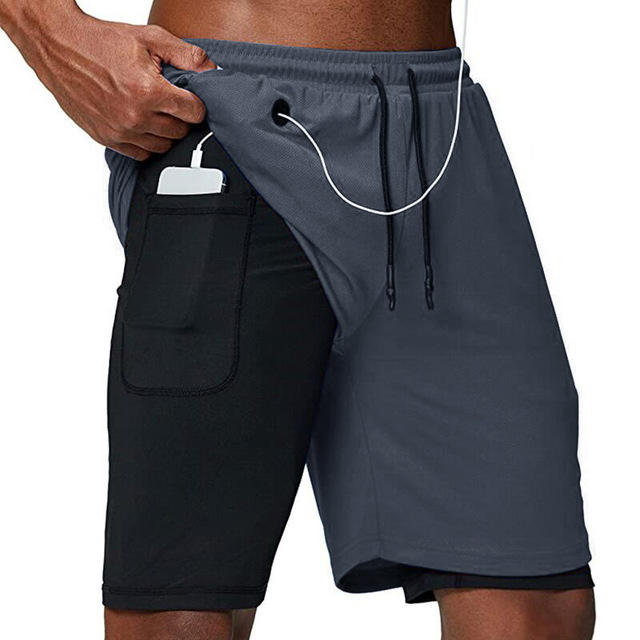 2020 Sport Jogging Compressie Ondergoed Dubbeldeks Zomer Heren <span class=keywords><strong>Shorts</strong></span>
