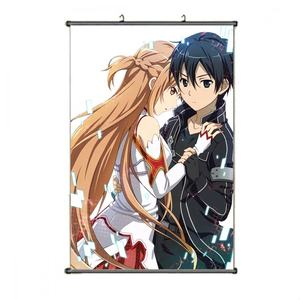 Custom Exhibition Ceiling Hanging Wall Banner Silk Fabric Anime Poster