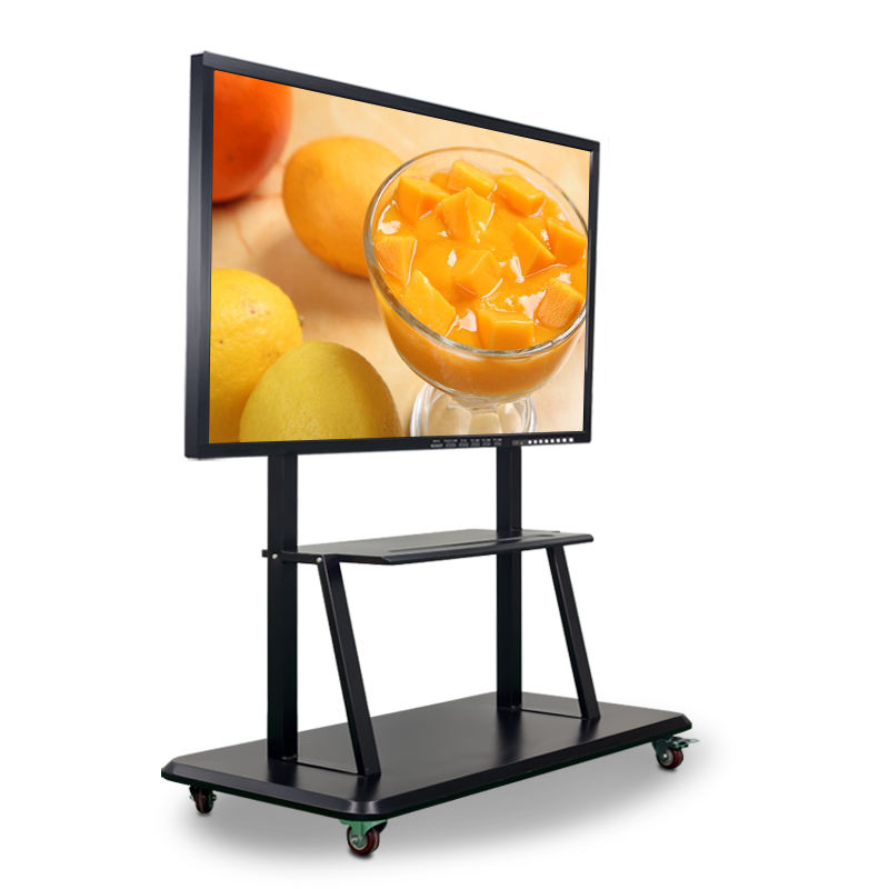 55 65 75 86inch 3td LED HD 4K touch screen Interactive smart board support MAC PC with mobile stand