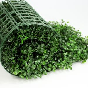 Wholesale artificial boxwood foliage hedge plants green natural wall panel for outdoor