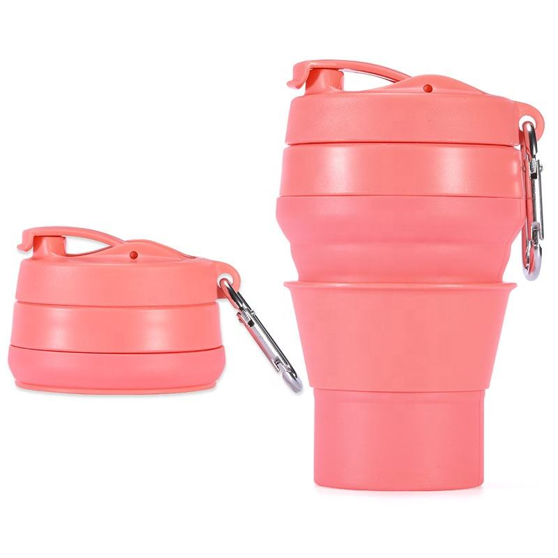Reusable Travel Mugs Collapsible Silicone Coffee Cups