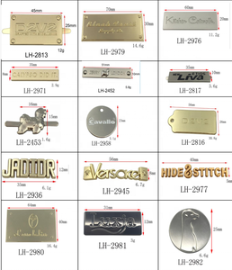 Custom Engraved Pendant Charm Stainless Steel Jewelry Tag Small Logo Metal Label Tag Metal Brand Tag for Handbags