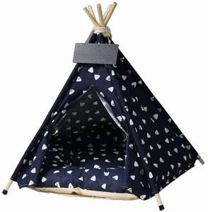 Custom Logo Soft and Warm Pet Accessories Outdoor Pet House Dog Bed Cat Tipi Tent