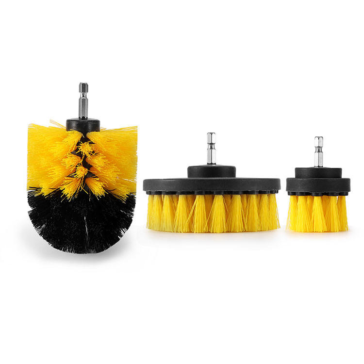 3 pcs/set Drill Scrubber Brush Power Full Electric Bristle Bathtub Tile Grout Cleaning Brush