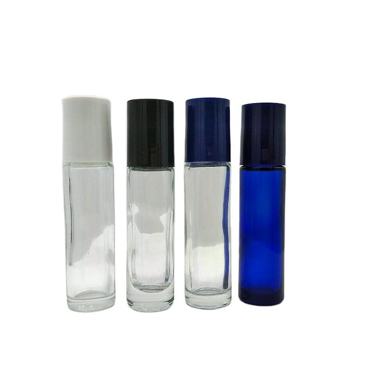 wholesale 5 ml 10 ml Roll On Glass Perfume Bottle Empty Thin Glass Roller Ball Essential Oil Bottle