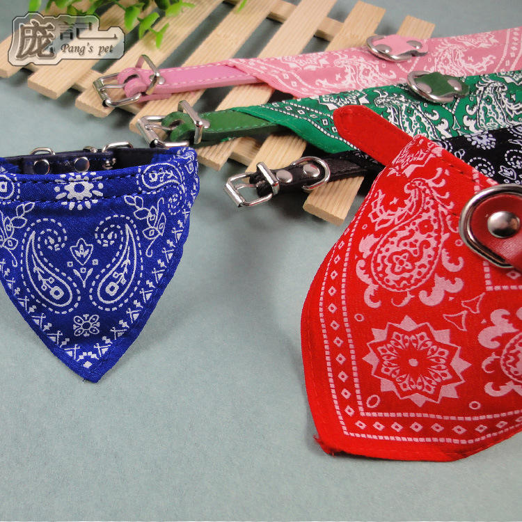 Pet Dog Scarf Collar Pet Supplies Cat Collar Necklace Leather Scarf For Small Dog Collar Neck Scarf Pet Accessories