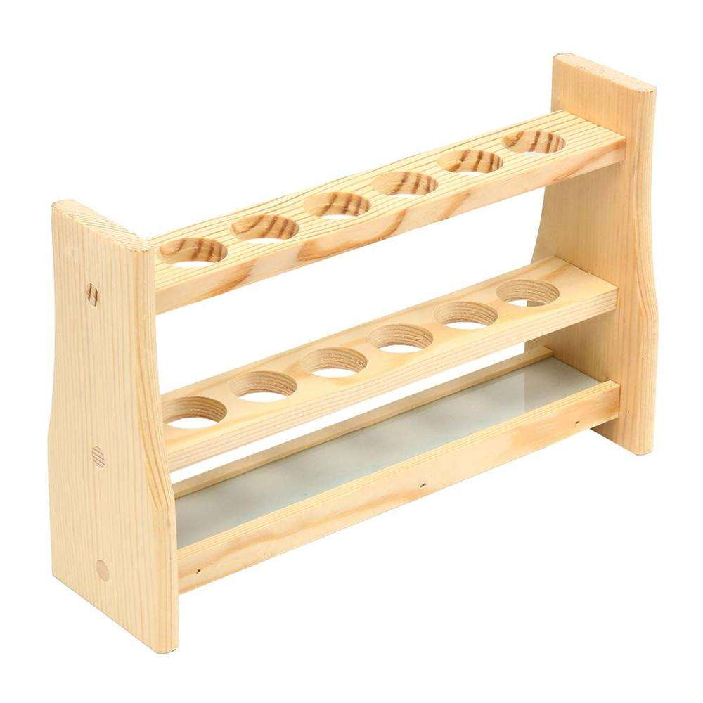 High-end Wooden test tube rack Color tube rack 6 and 12 holes Double Layer 10 ml 25 ml 50 ml 100 ml etc.