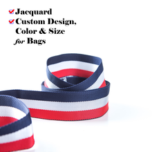 Custom Colorful Jacquard Polyester Belt Sling Webbing Tape for Bag