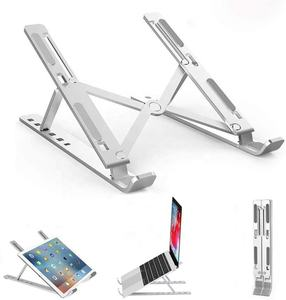 Ergonomic Aluminum Laptop Mount Computer Stand Adjustable Laptop Riser Notebook Holder Stand for Office Table
