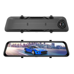 Driving recorder Full screen wide angle without blind spots 12 inch giant screen HD vision 1440P video