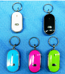 Promotional LED Keychain Wholesale Wireless Bag Luggage Mobile Phone Lost Smart Tracker Small Whistle Key Finder With Light