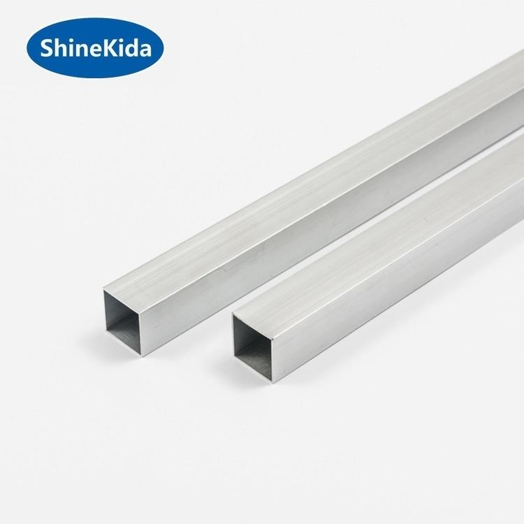 Aluminium square pipes tubes 25*25mm