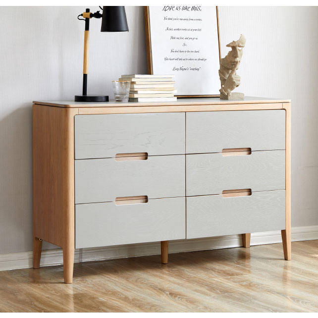 wholesale factory solid wood french 6 chest of metal sliding drawers for bedroom furniture