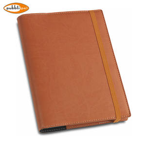 Accept Professional Custom Services Promotional Item PU Leather Office Agenda Diary With Elastic