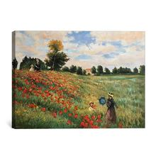 Claude Monet Poppy Field in Argenteuil beautiful scenery oil painting reproduction