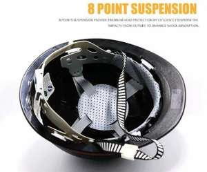 Shock resistant PE safe and airtight construction Anti-smashing Labor Miner lamp slot Safety helmet