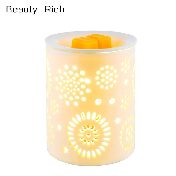 Ceramics Electric Wax Melt Warmer Incense Burner Wax Tart Burner Fragrance Candle Warmer for Warming Scented Candles, Wax Melts