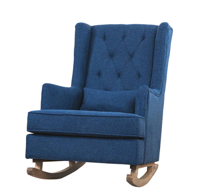 Cheap price Wooden armchair rocking chair with ottoman