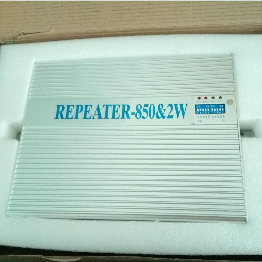 33dbm 2w repeater gain 80db gsm 3g repetidor 850mhz mobile phone cellular smart home repeater indoor booster