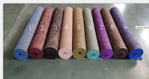 natural organic hemp yoga mat jute rubber PVC yoga mat eco friendly