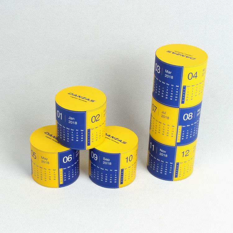 Customized Design Educational Toy Cylinder Calendar Magic Puzzle Cube