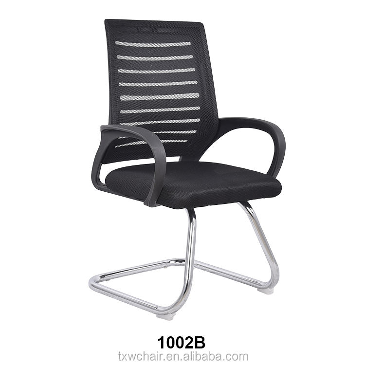 comfortable sled base mesh office chair