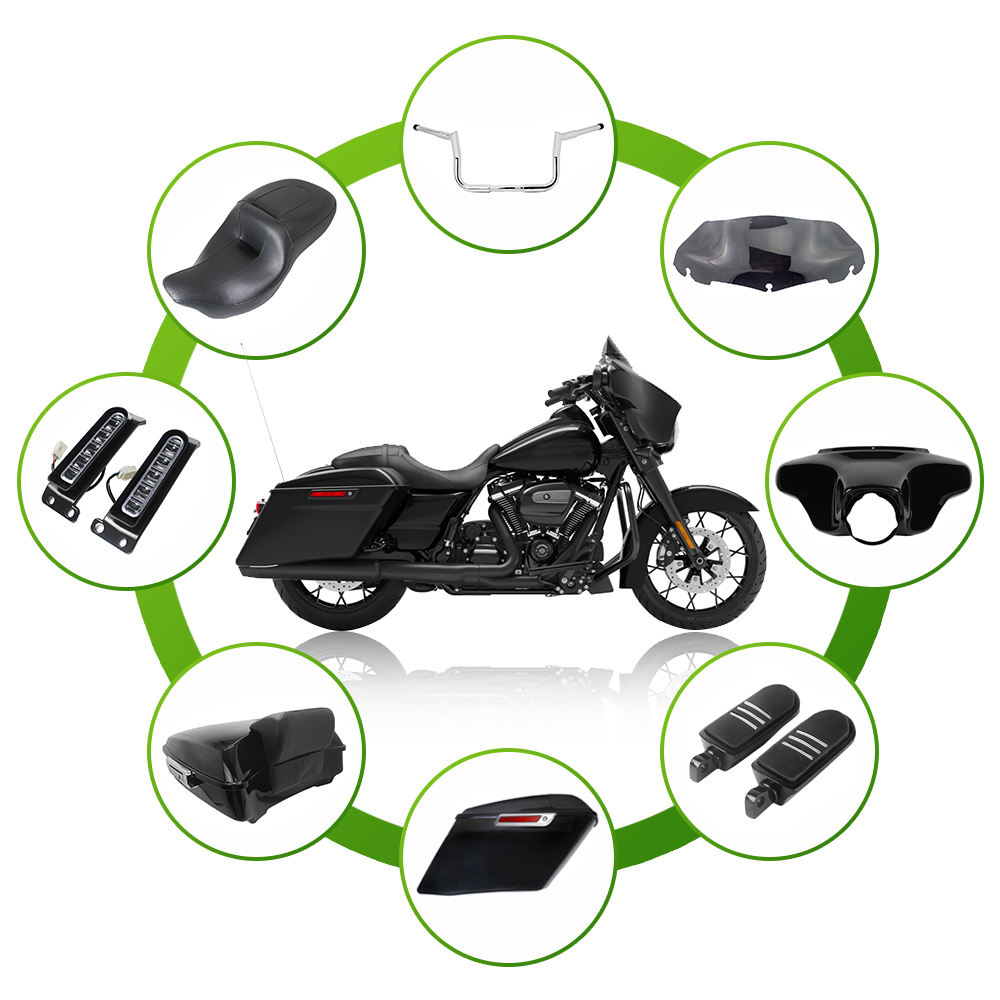 Custom Moto Motorcycle Modification Parts and Accessories Wholesale for Harley Davidson Touring