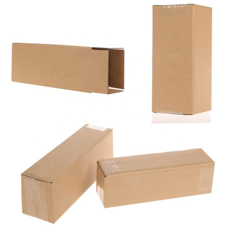 Rectangle Biodegradable Environmental Protection 3 Layers Corrugated Paper Packaging Boxes Carton For Cup Umbrella