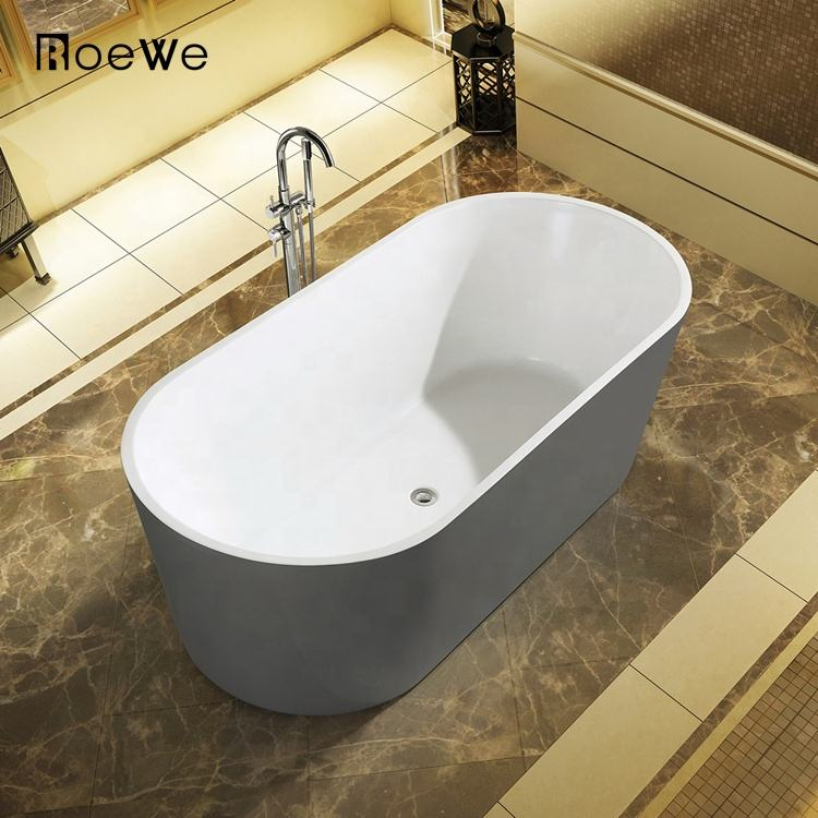 New style plain acrylic bathtub in foshan, various size and optional color soaking freestanding bathtubs