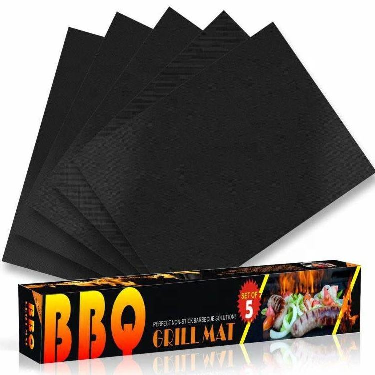 Heat Resistant Lifetime Guarantee 15.75 X 13 Inch Non-Stick BBQ Grilling Mat