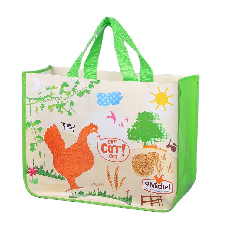 Top Sale Guaranteed Quality Fashionable Reusable Custom Logo Printed Non-Woven Portable Shopping Tote Bag