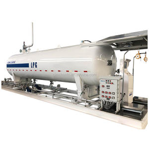 CIMC 20m3 GB standard lpg gas filling plant skid-mounted station with pump for sale