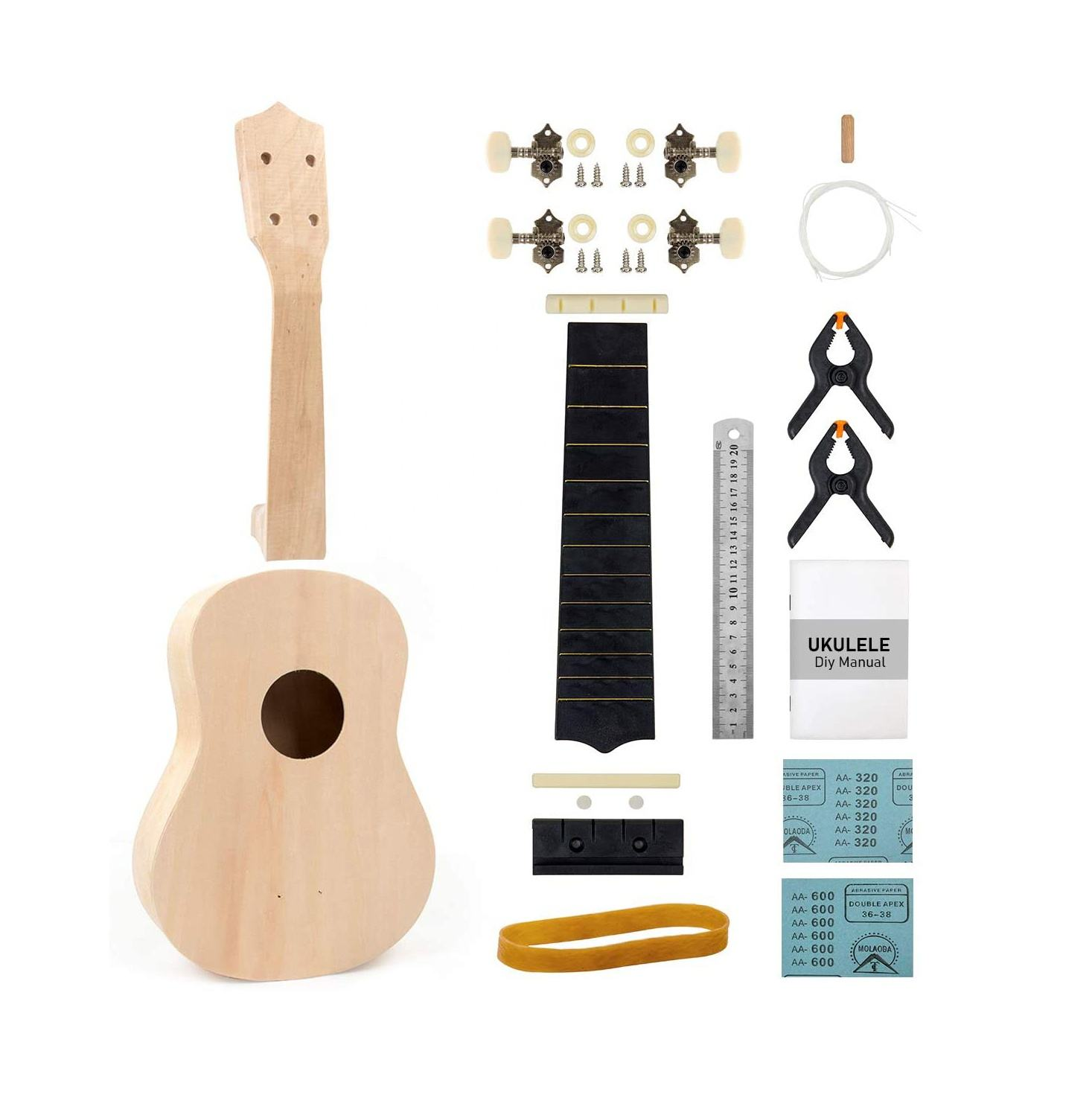 Kit Solid Wood Ebony Travel Colored String Case Personalizado Uk 21 Red Concert Electric Ukulele Bags